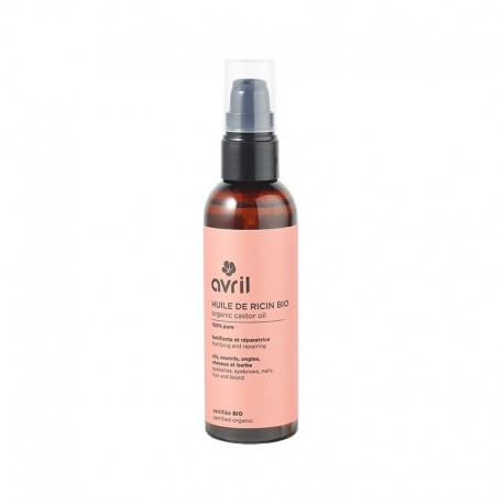 Avril Beauté Huile de Ricin 100% Pure Pressée à Froid Certifiée Bio 100ml