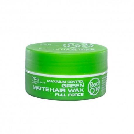 Red One Green Matte Hair Gel Wax - Cire Capillaire Forte Tenue Mate Verte 150 ml