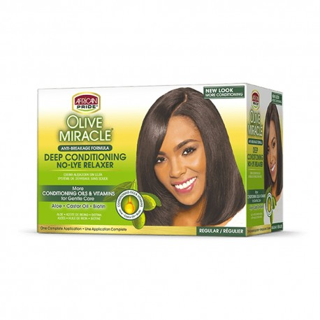 African Pride Olive Miracle Deep Conditioning - Défrisant Anti-Casse Regular
