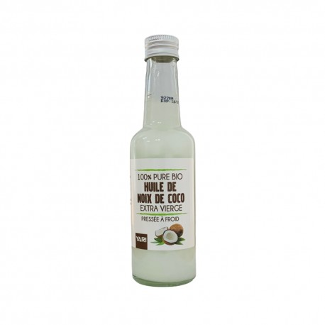 Yari huile de coco extra vierge 100% pure pressée à froid bio 250 ml