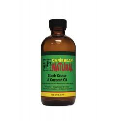 Caribbean Natural Black Castor & Coconut Oil - Huile de Ricin Noir et Coco