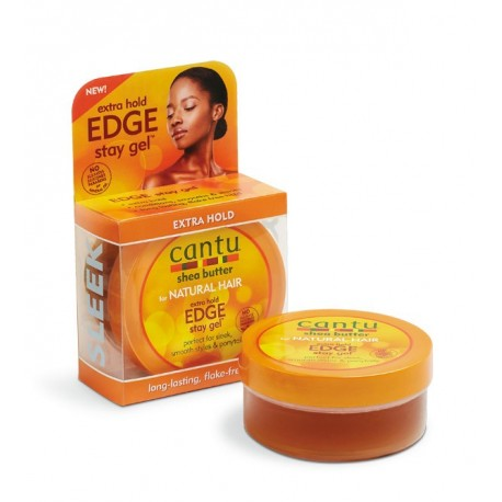 Cantu Natural Hair Extra Hold Edge Stay Gel Extra Fort