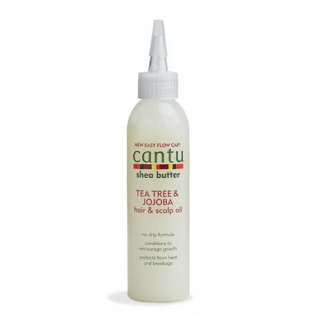 Cantu Hair Care Tea Tree & Jojoba Hair & Scalp Oil - Huile Nourissante