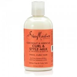 Shea Moisture Coconut & Hibiscus Curl & Style Milk - Lait Hydratant