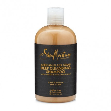 Shea Moisture African Black Soap Deep Cleansing Shampoo - Shampoing Anti-pelliculaire