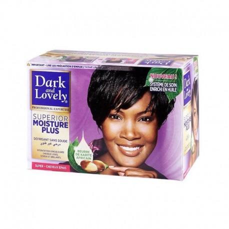 Dark and Lovely Superior Moisture Plus - Kit Défrisant Sans Soude Cheveux Épais